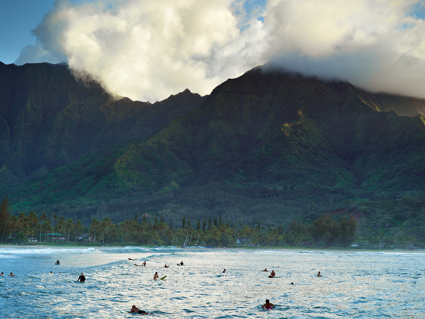 Hanalei Surfers by Copyright Peter Adams. All Rights reserved..
