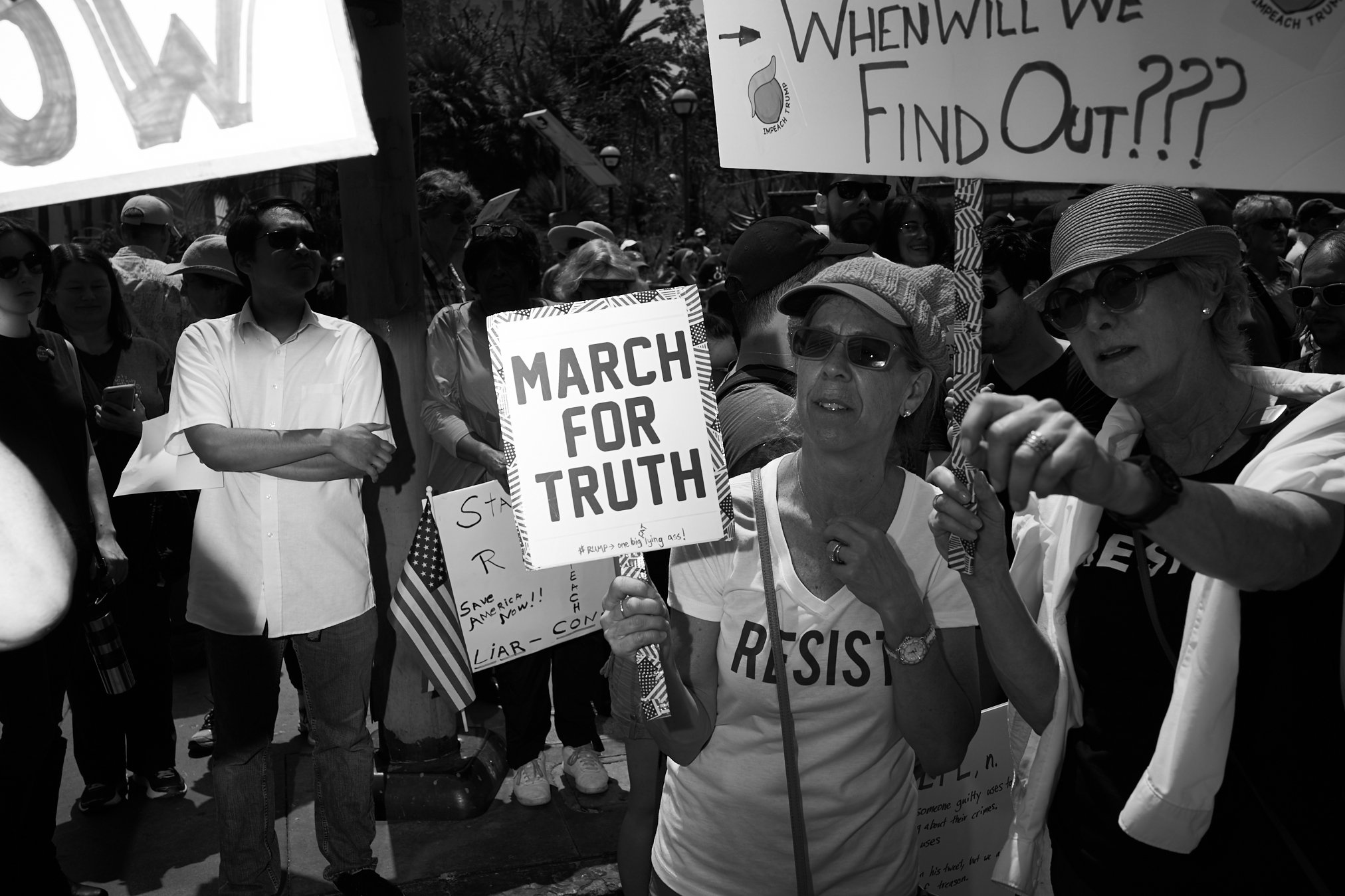 March for Truth by Peter Adams.